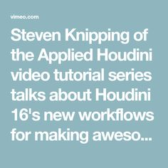 303 Best Houdini Tutorials and Resources images in 2019