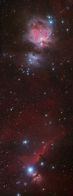 Orion Nebula and the Horsehead Nebula, constellation of Orion.  Photo by Phil Hart, Australia