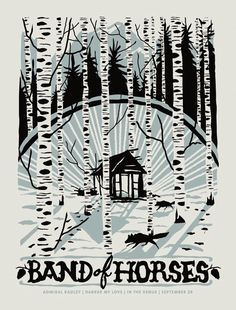 fur turtle, poster, 2- color, band of horses