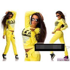 Trendy Women's Tracksuits, sweatsuits stylish suits neon yellow