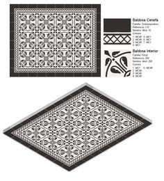 Modelo 259 y Cenefa 10 #black #negro #white #blanco #monocolour #monocolor #azulejos #tiles #home #casa #floor