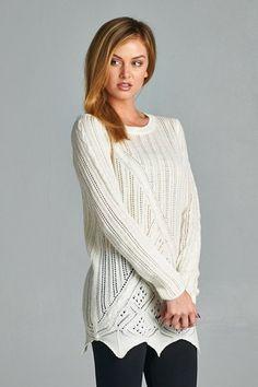 White Lightweight Knit Crewneck