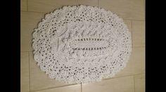 Crochet carpet oval-Baby rug- floor lace-living room mat. Wedding gift, birthday gift