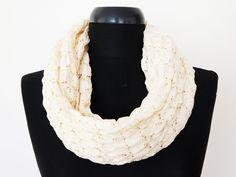 lvory Chunky  Infinity Scarf Summer scarfCotton scarfShawl by Urbe, $29.00