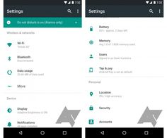 Some screenshots showing changes in Android N
