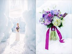 We love the flowers in this Frozen inspired wedding via @weddingchicks #Disney
