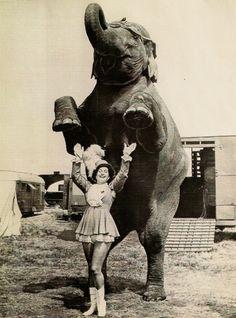 Flo McIntosh: Kelly Miller Circus, mid 1950′s.