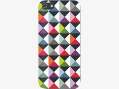 REMEMBER Pyramids patterned iPhone 5 cover  The beautiful Remember Pyramids patterned iPhone 5 cover combines striking geometric design with a sophisticated colour palette.  Made from hardshell polycarbonate with a soft-touch finish, it protects your iPhone 5 from everyday life.  A Pyramids iPad cover is also available.