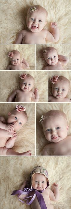 des moines baby photographer 3 month old girl