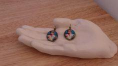 Patsy Ab Fab earrings in antique bronze by StoneysUniqueGeek, $10.00