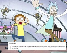 rick and morty text post
