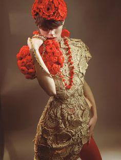 a charming blend | Freja Beha Erichsen | Glen Luchford #photography | Vogue Italia October 2008