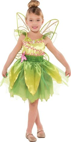 Girls Classic Tinkerbell Costume - Party City  Viejo Pascuero, debes hacer este disfraz en Chile!!!