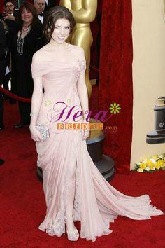Anna Kendrick pink red carpet dress