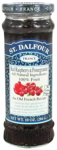 St. Dalfour - Fruit Spread 100% Natural Jam Red Raspberry & Pomegranate - 10 oz. - Listing price: $5.19 Now: $4.52