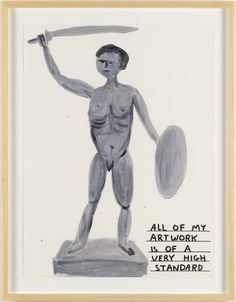 DAVID SHRIGLEY   Untitled (All of my artwork) (2014) Acrylic on paper 75.5 x 56 cm