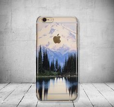 iPhone 6 Case Mountains Clear iPhone 6 Case Tree Clear by PaiBai