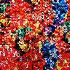 Origami on Splashdance Sequin - #fabric #stretchfabric #sequinfabric #dance #cheer #printedfabric