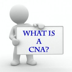 What is a CNA? CNA is a certified nursing assistant who work in different health care centers, day care centers, hospitals, emergency rooms, and surgery room etc. a certified nursing assistant works under the supervision of train nurse or physician.  Read more: http://www.educatorz.org/what-is-a-cna/#ixzz2txewPFqO