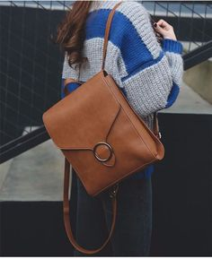 Fashion Women Leather Backpack Multifuction Brown Black Backpacks Teenage Girls Shoulder School Bags sac a dos mochilas Outfit Accessories From Touchy Style