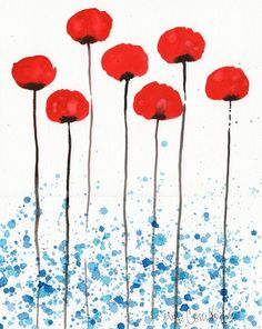 I always love poppy art.  Beautiful.