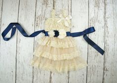 Hey, I found this really awesome Etsy listing at https://www.etsy.com/listing/247498139/navy-blue-flower-girl-dress-champagne