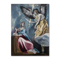 El Greco 'The Annunciation' Canvas Art
