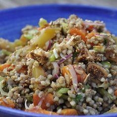 Buckwheat- winter salad with sweet Potato, Yams and Figs - Gluten Free