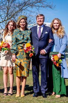 The Royal Family of the Netherlands Celebrate Koningsdag 2021 — Royal Portraits Gallery Eindhoven, Kings Day, Queen Maxima, Nassau, Bridesmaid Dresses, Wedding Dresses, Royal Fashion, Bollywood Fashion, Her Style