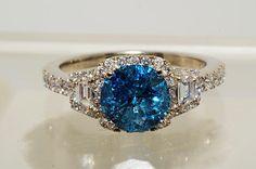 Beautiful Blue Diamond ring