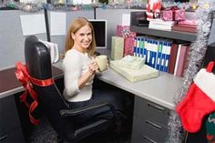 Make your business Christmas as profitable as possible with tips for everything from increasing sales through how to have a great Christmas party. Christmas Cubicle Decorations, Office Decorations, Office Cube, Office Desk, Office Space Decor, Work Cubicle, Cubicle Ideas, Office Christmas Party, Christmas Games