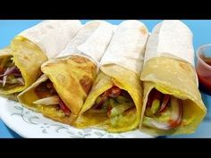 Egg Tortilla Roll/Wrap Recipe | Egg Recipes for Kids Evening Snacks and Lunch Box By Shilpi - YouTube