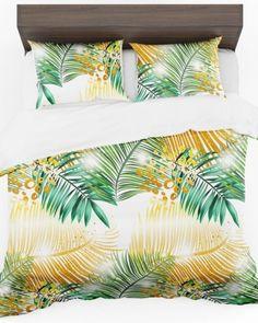 Moderná obliečka na posteľ s palmovými listami (1) Tapestry, Quilts, Blanket, Bed, Home Decor, Hanging Tapestry, Tapestries, Decoration Home, Stream Bed