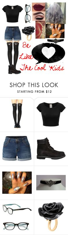 """Cool Kids~"" by blissfull-darkness ❤ liked on Polyvore featuring LE3NO, Timberland, Kate Spade and Nach Bijoux"