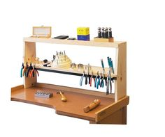 Eurotool Shelfmate Bench Top Tool Holder, Keeps Everything Within Hand's Reach - Bench Tools - Jewelry Making Tools Tool Organization, Tool Storage, Garage Storage, Storage Ideas, Storage Benches, Bead Storage, Woodworking Workbench, Woodworking Projects, Woodworking Machinery