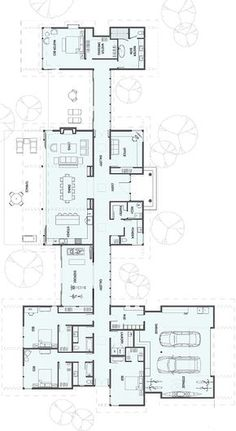 New house plans modern ranch square feet Ideas New House Plans, Dream House Plans, Modern House Plans, House Floor Plans, Bungalow Floor Plans, The Plan, How To Plan, Long House, House 2