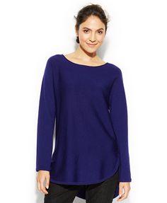 Eileen Fisher Merino Wool High-Low Tunic Sweater
