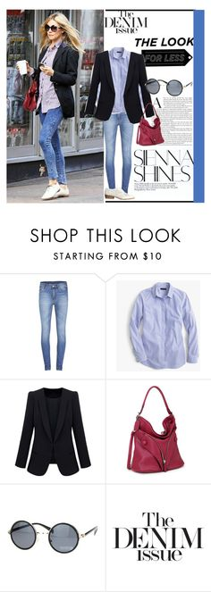 """""""Denim edition - dress ala Sienna Miller"""" by southernbelle83 ❤ liked on Polyvore featuring Cheap Monday, J.Crew, H&M and LookForLess"""