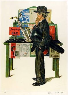 Norman Rockwell - #music #artwork #musicart www.pinterest.com/TheHitman14/music-art-%2B/