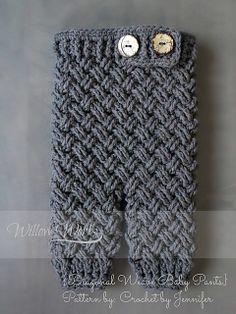 Ravelry: Diagonal Weave Baby Pants pattern by Crochet by Jennifer