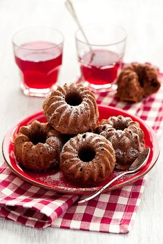 little Chocolate Bundt Cakes - recipe can be found at - Cooking For Pleasure
