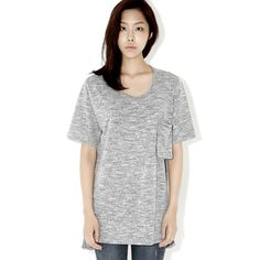Today's Hot Pick :Heathered Regular T-Shirt http://fashionstylep.com/P000BAEP/ju021026/out This category is the perfect casual clothing that has simplicity and glamour at the same time. It has a heathered pattern with a regular fit and a round neckline. It also sport a singe breast pocket for convenience as well as style. Wear these with your sneakers to get that fun and casual look.