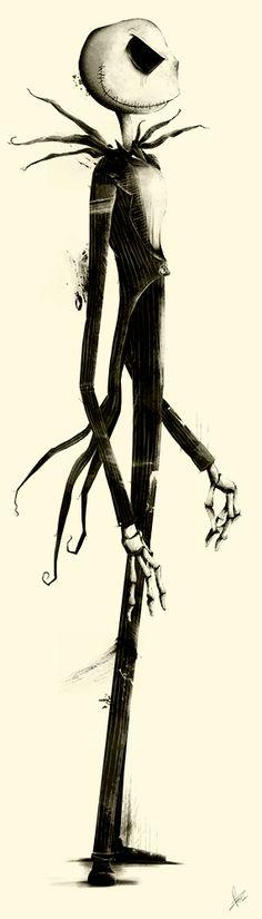 """""""L'étrange Noël de M.Jack"""" de Tim Burton, illustration de Marie Bergeron, artiste canadienne."""