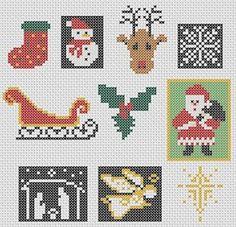 Navidad cruz puntada motivos: colección de diseños rápidos 22