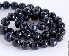 Купить САПФИР ( SAPPHIRE) 9мм - темно-синий, сапфир, сапфир камень, сапфир натуральный