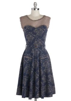 Blogging Molly Dress in Navy Floral, @ModCloth