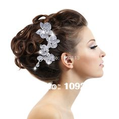 Bella casamento nupcial limpar orquídea cabelo pinos Comb coroa Tiara de cristal austríaco Headpiece acessórios de dama de honra em Jóias para cabelo de Jóias no AliExpress.com | Alibaba Group