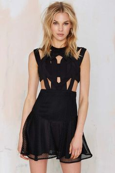 Nasty Gal Rock City Scuba Dress - Going Out | LBD | Fit-n-Flare | Dresses