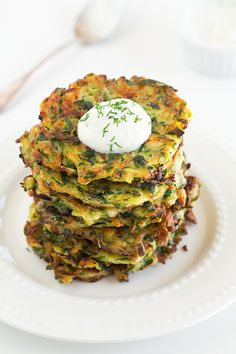 Zucchini Patties with Feta - these are delicious! Just be sure to eat them warm out of the skillet while the edges are still crisp! YUM!