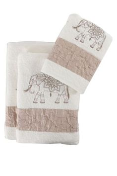 Embroidered Elephant Towel